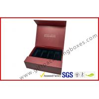 Wholesale Creative red color magnet gift packaging box with gold foil , EVA foam with black velet from china suppliers