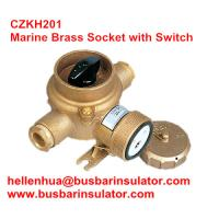 Wholesale 10A/16A marine brass socket with switch CZKH109 IP56 adopted standard DIN89263 from china suppliers