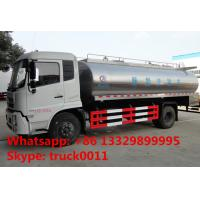 Wholesale Hot sale 2017s 8cbm-10cbm dongfeng milk liquid food truck, factory sale best price 10m3 stainless steel milk tank truck from china suppliers
