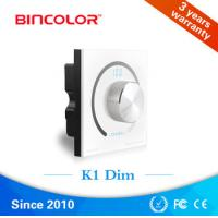 Wholesale DC 12V 24V Constant voltage Wall Mount Rotary White Light LED Dimmer from china suppliers