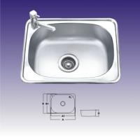 Wholesale 1 Bowl Polished Stainless Steel Kitchen Sink With Faucet 550 X 400mm from china suppliers