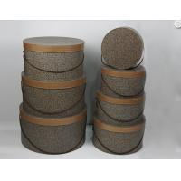 Wholesale Solid Large Cardboard Round Gift Boxes With Lids High Class Fabric Rope from china suppliers
