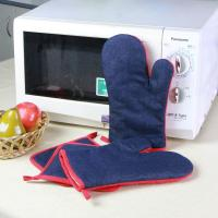 Wholesale Denim Fabric Kitchen Oven Mitts / Heat Resistant Kitchen Gloves For House Use from china suppliers