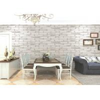 Wholesale Natural Plant Fibers 3D Brick Effect Wallpaper , Old Industrial Fresco Living Room Wallpaper from china suppliers