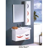 Wholesale Aluminium handles wall hung bathroom vanities cabinets optional Waste drain from china suppliers