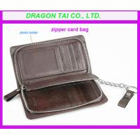 Wholesale Zipper card case wallet, customized color are available from china suppliers