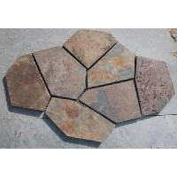 Wholesale Rusty Yellow Slate Meshed Flooring Stone from china suppliers