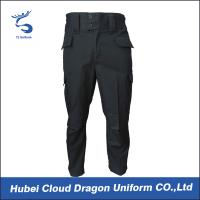 Wholesale Men Poly Cotton Tactical Combat Pants / Black Tactical Cargo Pants from china suppliers