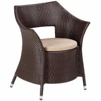 Wholesale outdoor garden wicker/rattan dinning chair with cushions  WC-031 from china suppliers