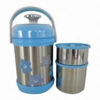 Wholesale Stainless Steel Lunch Box, Keeps Hot/Cold for Long Time, Reusable, Various Designs are Available from china suppliers