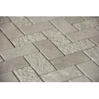 "Quality Grey marble mosaic tile herringbone 1x2"" 3D for sale"