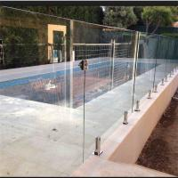 Wholesale Tempered frameless 304 316 316L glass railing with spigot for sale from china suppliers