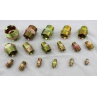 China Carbon Steel Hydraulic Pipe Fittings With BSP Thread And BSPT Thread Nipple on sale