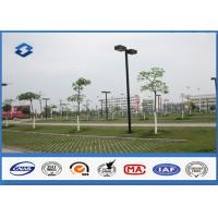Wholesale ASTM A123 Galvanized parking lot lighting poles Against earthquake of 8 grade from china suppliers