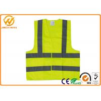 Polyester Safe Reflective Strap Vest , Adjustable Custom High Visibility Vests