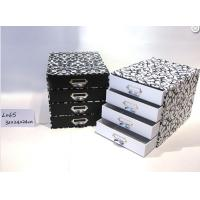 Wholesale Four Layer Stationery Storage Drawer Gift Box Glossy Lamination With Metal Handles from china suppliers