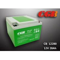 Quality Green ABS Plastic V0 lead Acid UPS Backup Battery 12V 28AH CB12280 9.8KG for sale