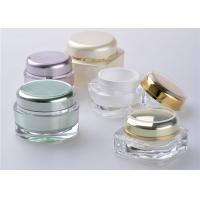 Wholesale Square Bottle Cap Cosmetic Jars With Lids / Plastic Lotion Jars from china suppliers