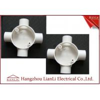 Wholesale White GI 4 Way Electrical Junction Box PVC Conduit and Fittings BS4662 Standard from china suppliers