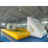 Buy cheap Huge Inflatable Football Field, Air Sealed Inflatable Soap Soccer Field from wholesalers
