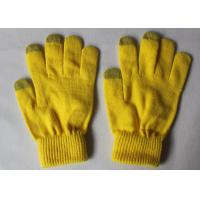 Wholesale Three Conductive Fingertips Touch Screen Compatible Gloves Yellow from china suppliers