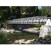 Wholesale Portable Bailey Bridge Heavy Load Capacity , Strong Structure Rigidity from china suppliers