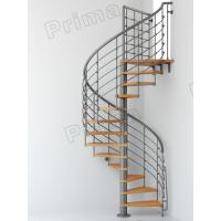 Wholesale Iron Railing Wood Staircase Treads Customized Internal Spiral Stairs from china suppliers