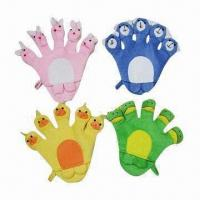Quality Promotional Cleaning Sponge Bath Gloves, Customized Logos are Accepted for sale