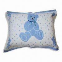 Wholesale 100% Cotton Velour Pillow with Cute Bear Print, Available in Various Colors and Sizes from china suppliers
