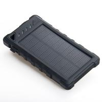 Outdoors 8000mAh Dual USB Waterproof Solar Power Bank with Camping light and Counterfeit Detector