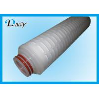 "Wholesale High Efficiency 20"" PP Pleated 0.45 Micron Filter Cartridge For Plating Solutions from china suppliers"