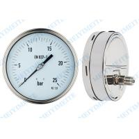 Wholesale High precision welding pressure gauge 160mm with polish stainless steel case from china suppliers