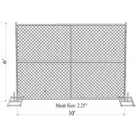 "Wholesale 6' x 10' ""Smart Kids"" temporary chain link fence panels 1.625""(41.2mm) Outer Diameter zinc coated minimum 300gram/sqm from china suppliers"