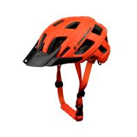 Wholesale Orange Adult Safety MTB Enduro Helmet Visor Lightweight 12 Vent Holes from china suppliers