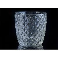 Wholesale Diamond Shape decorative candle holders Embossed glass tealight candle holders from china suppliers