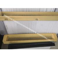 China Flat Type High Flow Panel Pleated Filter Cartridge 500 mm Flange Width For Cement Silo Top on sale