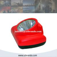 Quality 1W Cree LED Cordless Miner Cap Lamp with Cradles and OLED Display for sale