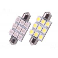 Wholesale 9pcs 5050 SMD Car LED Festoon Bulb Turn Signals Stable Emitting from china suppliers