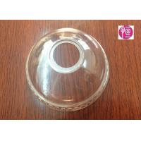 Wholesale 4oz Transparent BOPS Clear Dome Lids  A Hole For Ice Cream Cup from china suppliers