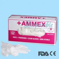 Buy cheap Medical disposable clear color vinyl gloves from wholesalers