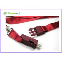 Wholesale High Speed Lanyard USB Flash Drives , High Capacity Custom Thumb Drives from china suppliers