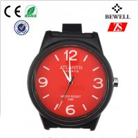 Wholesale Black And Red Silicone Quartz Watch , Harden Glass Silicon Wrist Watches from china suppliers