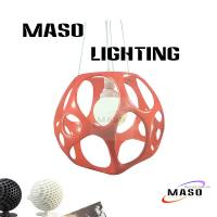 Wholesale Steel Rope Adjustable Hanging Hollow Pendant Lamp Resin Pendant Lamp for Indoor Lighting from china suppliers