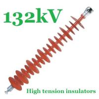 Wholesale Safety 132kV Composite Polymer Insulator , Red IEC61109 Powerline Insulators from china suppliers