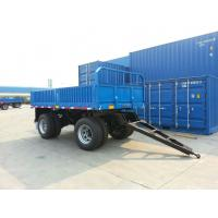 Wholesale 27 Feet-2 Axles-Draw Bar Rail Side Flat Bed Trailer from china suppliers