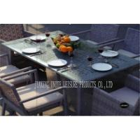Wholesale Metal Rattan Outdoor Patio Dining Sets / Porch Table And Chairs Comfortable from china suppliers
