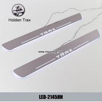 Wholesale Holden Trax Car accessory stainless steel scuff plate door sill plate lights LED from china suppliers