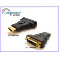 Wholesale 24k gold contact 24 Pin DVI Adapter, DVI-D 24+1 Female to HDMI 19 pin Male from china suppliers