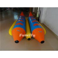 Wholesale 0.9mm Pvc Tarpaulin Inflatable Fly Fish , Double Tubes Inflatable Banana Boat from china suppliers
