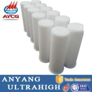 Buy cheap new UHMWPE plastic flanged small slide bushings HDPE Bushing machined customozed parts from wholesalers
